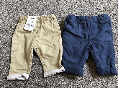 Next Baby Boy Navy, Stone Chinos Trousers  0-1