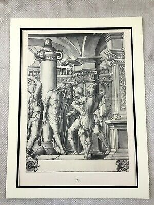 Antique Print Rare Hans Holbein Passion of the Christ Jesus Crucifixion Painting
