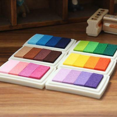 1 Pcs Novelty Stamp Craft Wood Inkpad Signet Oil Based Gradient Colors For Gifts