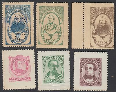 Stamps 115829 Argentina 1914 Early Revenue Mint Pair 6p Latin America