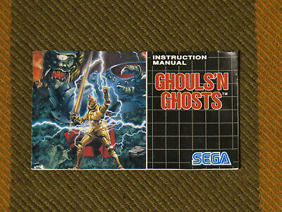 Ghouls 'n Ghosts, Sega Mega Drive, ONLY MANUAL, PAL Version 100% Original
