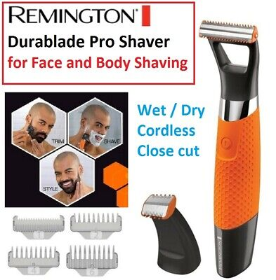 Remington Durablade Pro Mens Shaver Trimmer Beard Cordless Rechargeable Shaving