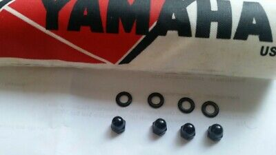 yamaha rd250lc/ 350lc black dome nuts and washers clock cover part no 95301-0580