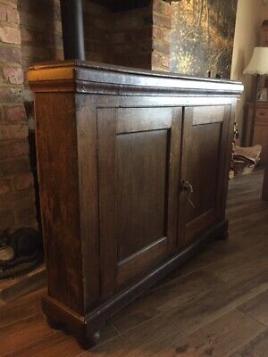 ANTIQUE VICTORIAN ENGLISH OAK Sideboard Hall Louge Study Kitchen Unit Cabinet