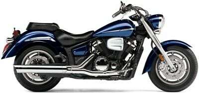 YAMAHA XVS 1300 MIDNIGHT STAR : Scalloped Slash Cut Slip On Exhaust (COBRA 2275)