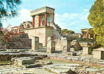 Postcard, Crete, Palace Of Knossos, Customs House, North Entrance, Relief Fresco