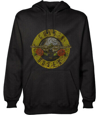 Guns N' Roses 'Distressed Classic Logo' (Black) Pull Over Hoodie -NEW & OFFICIAL