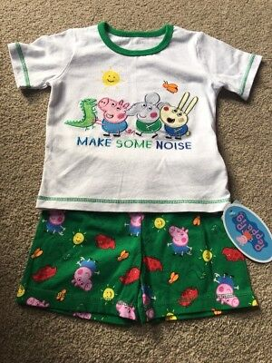 George Pig Peppa Dinosaur Edmund Elephant Richard Rabbit Pyjamas 12-18 Months