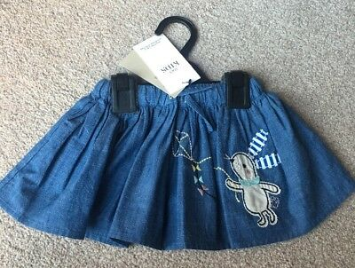 M&S Marks And Spencer Baby Girls Cute Spring Bunny Rabbit Skirt 3-6 Months