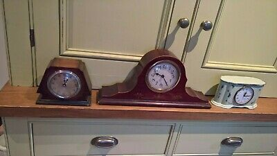 3 vintage clocks 2 converted to battery