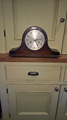 Fowler and Oldfield mantle clock – hardwood Napoleon case