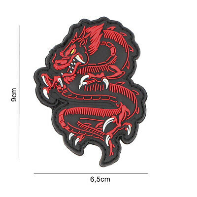 morale patch 3D PVC DRAGON RED  5090