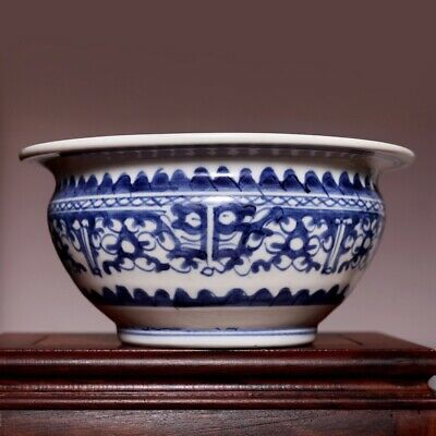 Perfect Large Chinese Confirmed 18C Blue and white Old Pot Porcelain Jar HX85