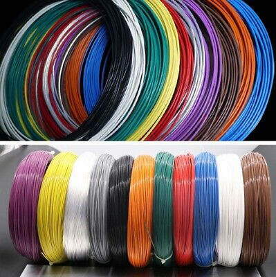 Teflon PTFE Silver-plated Copper Wire Stranded 28/30 AWG Headphone Cable 15Color