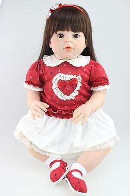 """Large Size 28"""" /70CM Silicone Reborn Toddler Dolls Lifelike Real Girl Soft Touch"""