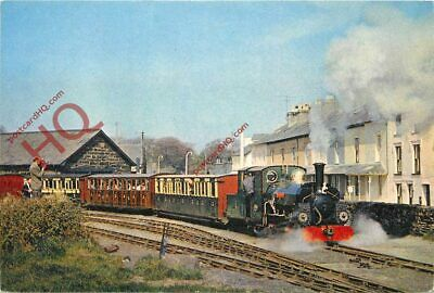 Picture Postcard~ FESTINIOG RAILWAY LOCO 'BLANCHE' LEAVING HARBOUR STATION