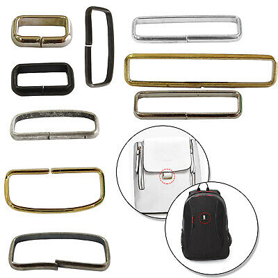 Non-Welded Rectangle Metal Loop Rings For Leather Craft Belt Bags Webbing Straps