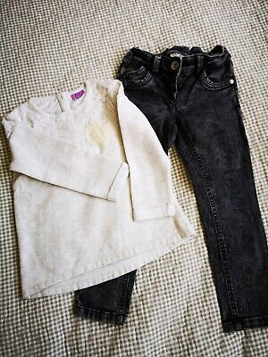 Next Girls Jeans and F&F Top, Size 3-4 Years 104cm