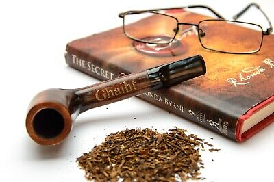 Tobacco Smoking Pipe Personalized Straight Canadian Wooden Bowl Custom Engraving