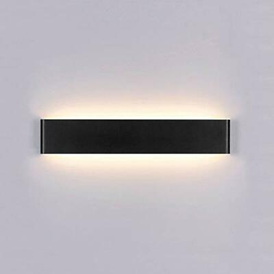 Yafido Aplique Pared Interior LED 14W Lámpara Negro Blanco Cálido 2700K AC 22