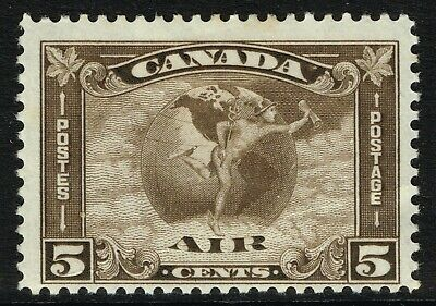 SG 310 CANADA 1930 AIR STAMP - 5c DEEP BROWN - MOUNTED MINT