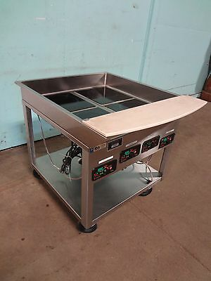 """""""Mr Induction"""" H.d.commercial Electric Induction Warmers On Stainless Steel Cart"""