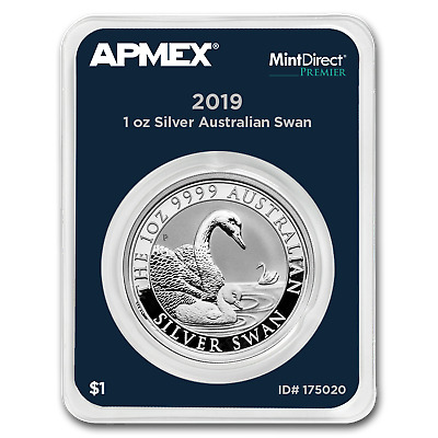 2019 Australia 1 oz Silver Swan (MintDirect® Premier Single) - SKU#175020