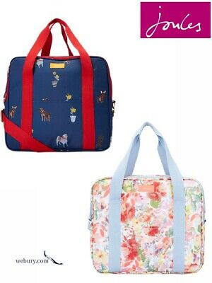 Joules Picnic Printed Insulated Cool Bag - SS19 Blue Dogs & White Floral