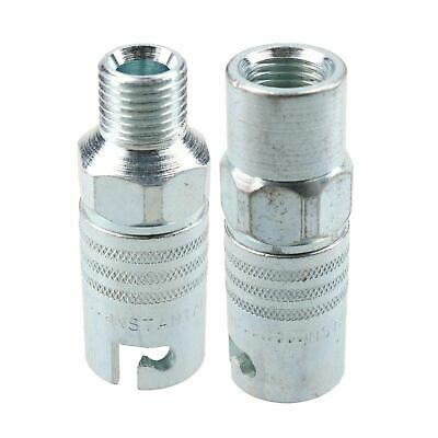 "PCL Instant Air Coupler 1/4"" BSP Male & Female Thread Air Hose Fitting Coupling"