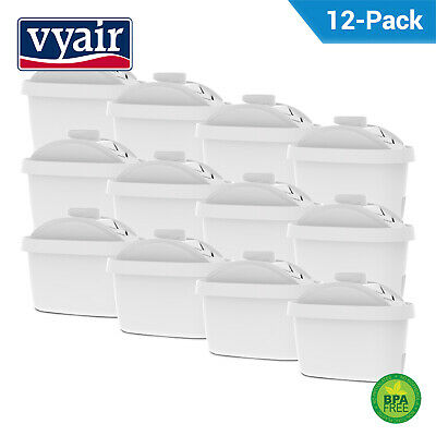 12 Compatible Water Filter Cartridges for Brita Maxtra, Maxtra+ & Mavea Jugs
