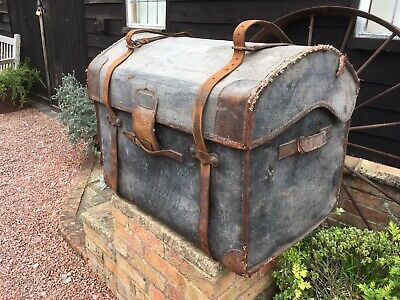 Awesome antique travel trunk. Plaque: H. Longbottom, Wakefield. Harry Potter.