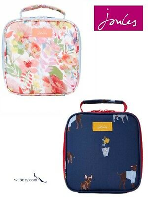 Joules Insulated Printed Picnic Lunch Bag - SS19 Blue Dogs & White Floral