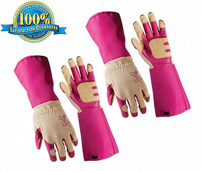Set of 2 Digz Womens Large Full Suede Leather All Purpose Work//Garden Gloves