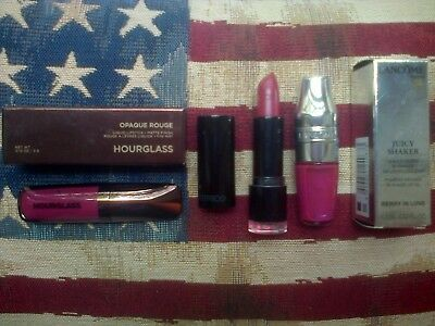 Hourglass Liquid Lipstick, Juicy Shaker Lip Oil and Catrice Lipstick