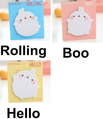 1pc Molang Paper Cute Rabbit Animal Cartoon Memo Pad Stickers Decal Sticky No...