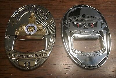 LAPD LOS ANGELES Police Shootin Newton Challenge Coin Bottle Opener