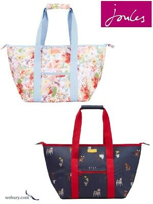 Joules Insulated Picnic Carrier Bag - SS19 Blue Dogs & White Floral