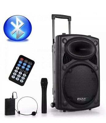 700W Portable PA System Handheld Headset  with USB SD & Bluetooth + Case