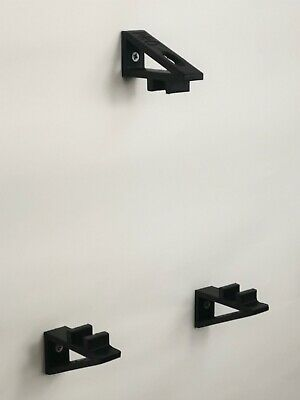 Set of Wall Brackets For PS4 PRO PlayStation 4 Console In Black