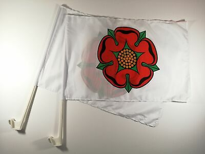 LANCASHIRE OLD Car Window Flag 2 Pack.  FREE UK delivery!