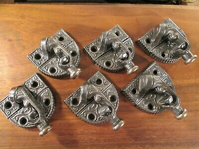 Lot  Of  Six  Antique  Victorian  Window  Sash  Locks