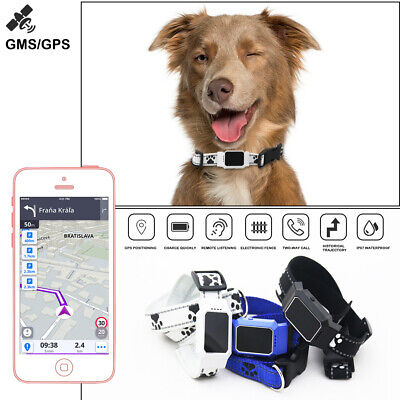 IP67 Pet Dog Cat Collar GPS GSM GPRS Tracker Caller Finder Real Time APP Locator
