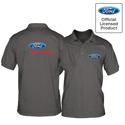 Official Licensed Ford Performance Racing Team Men's Polo Shirt Front/Back