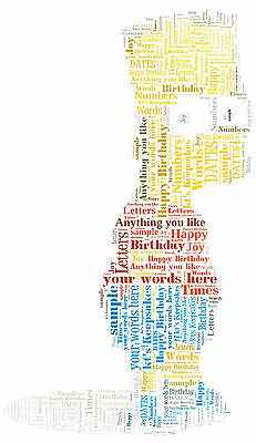 SIMPSONS HOMER Birthday Personalised Word Art Print Gift Dad Grandad Fathers Day