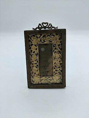 Antique Ribbon Bow Frame with brass inlay