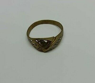 Ancient bronze Viking ring solid