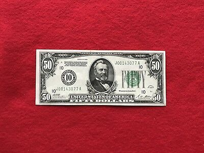 FR-2100J  1928 Series $50 Fifty Dollar Kansas City Federal Reserve Note *XF*