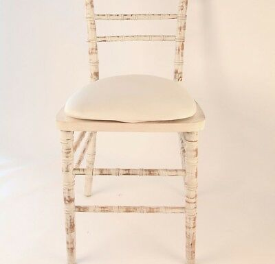 80 x SPANDEX /LYCRA SEAT PAD COVER IVORY- WEDDING CHAIRS -Free Collection