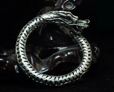 Collection China Old Handmade Tibetan Silver Dragon Bracelets