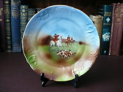 Late 19th/Early 20th c Hunt Plate / Plaque - Fox Hunting - Call To Hounds -